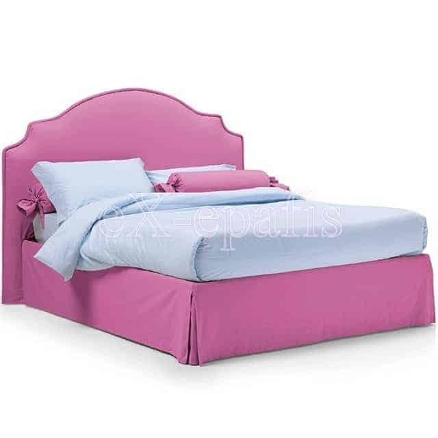 Κρεβάτι Fiordaliso Eco Italy Επενδυμένο & Μπαούλο