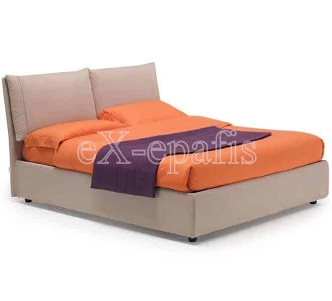 Κρεβάτι Vera Eco Italy Επενδυμένο & Μπαούλο